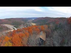An aerial view of Eureka Springs, Arkansas. Awesome!