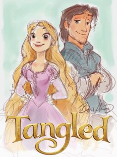 Tangled director, Byron Howard, celebrates the 5th anniversary of the film with a sketch that gleams and glows.