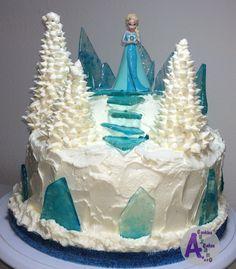 Elsa Frozen ice & Snow buttercream cake 08-08-2015