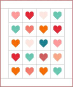 Simple Heart Quilt | Cluck Cluck Sew