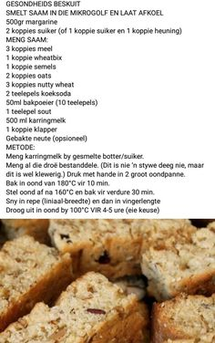 Fun Baking Recipes, Easy Cake Recipes, Bread Recipes, Cooking Recipes, Healthy Recipes, Africa Recipes, South African Recipes, Ethnic Recipes, Rusk Recipe