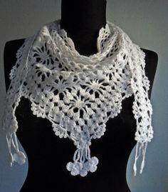#crochet bufanda envuelta blanca