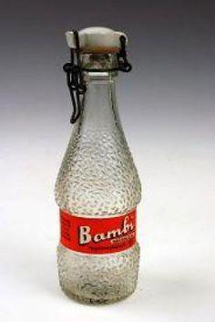 "Vintage bottle for the soft drink ""Bambi"" Csatos üveges Bambi"