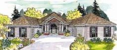 Ranch Style House Plans - 2473 Square Foot Home, 1 Story, 3 Bedroom and 2 3 Bath, 3 Garage Stalls by Monster House Plans - Plan 17-248