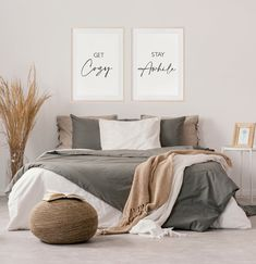 Guest Bedroom Office, Guest Bedrooms, Home Decor Bedroom, Spare Bedroom Ideas, Guest Room Bedding Ideas, Cozy Small Bedrooms, Decoration, Wall Art, Wall Decor