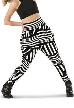 Striped, Printed Harem Pants - Urban Groove