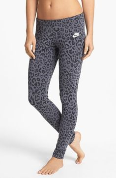 Nike leopard workout pants