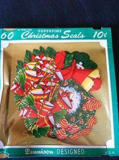 Vintage Christmas Gummed Seals/ Stickers/ Lot Of 200 (04/18/2013)