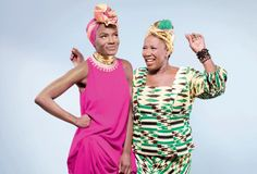 Musician and lead singer of the Noisettes Shingai Shoniwa, 31 with her mother Leoba Kureya, 52.