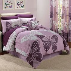 Mod Butterfly Reversible Cotton Comforter Set & More