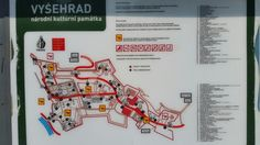 Vyšehrad - mapa