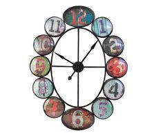 Wanduhr Tunrida 121x96 cm Mehrfarbig Antik Design