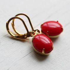 red berry earrings by silk purse, sow's ear   notonthehighstreet.com
