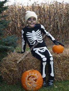 Homemade Skeleton Costume