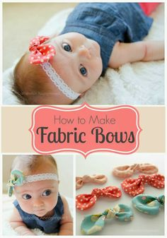 How to Make Fabric Bows Tutorial