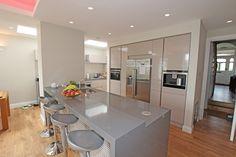 Cashmere gloss laminate German kitchen