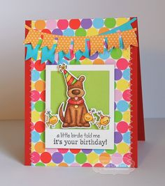 A Little Birdie Told Me Card by Amy Crockett #Cardmaking, #TEMatched, #Critters, #Birthday, #ShareJoy, #TE