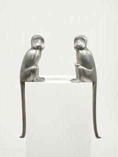 François-Xavier Lalanne, Singe attentif (pair), Zinc, 76 x 18 x 16 cm Animal Sculptures, Sculpture Art, Modern Art, Contemporary Art, Ben Brown, Francois Xavier, Supreme Art, French Sculptor, 12 November