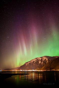 Aurora borealis in Juneau, Alaska, April 14, 2013 -  Credit: Ron Gile