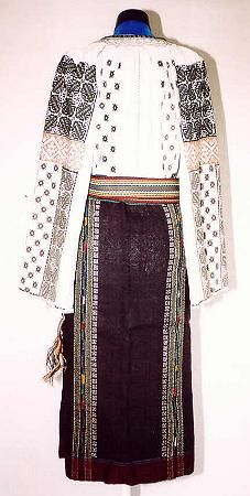 Women's costume from region of central Moldavia Moldova, Costumes For Women, Fashion History, Folk, Kimono Top, Rustic, Popular, Traditional, Detail