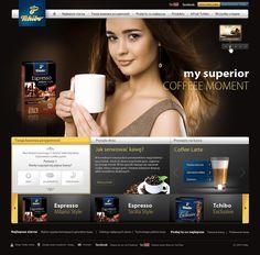 Tchibo website by Staszek Błędniak, via Behance