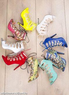 sandalky na šnurovanie v štyle celebrít 10 farieb
