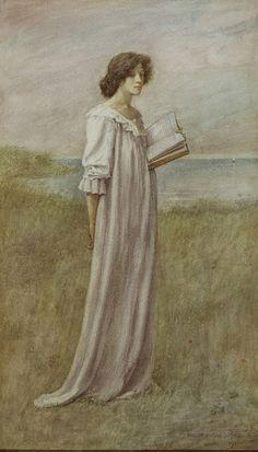 Philip Burne-Jones (Inglaterra, 1861-1926) Aquarela sobre papel, 46 x 26 cm Samuel and Mary R. Bancroft Memorial, 1935 Delaware Art Museum, Wilmington, DE