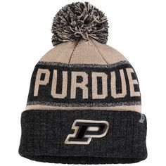 official photos 53b27 7142c Purdue Boilermakers Top of the World Youth Below Zero Cuffed Knit Hat With  Pom - Black