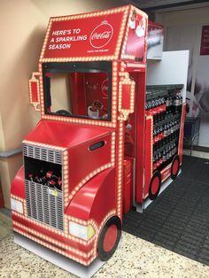 Temporary Cardboard Design - 3D Design - Full Pallet - Coca-Cola Truck
