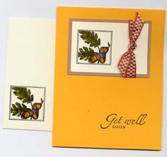 Close to Nature on the card & the envelope. Good masculine image