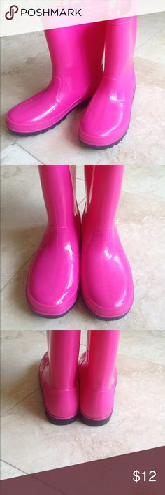 Joe Boxer Rain Boots Cute hot pink rain boots. The boot say size five but I am a nine and they fit me but are tight so I am calling them an 8 1/2 or even 8. Joe Boxer Shoes Winter & Rain Boots
