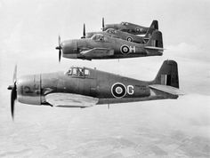 Formation flown by Dutch pilots of 1840 Squadron in Grumman Hellcats based at Royal Naval Air Station Eglinton, Northern Ireland. The squadron was made up of over 80% Dutch.