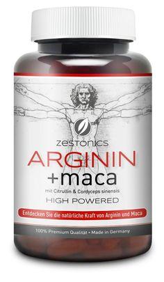 NEU: L-Arginin 2.400mg plus Maca 34.000mg HOCHDOSIERT mit Citrullin & Cordyceps – Arginin Base plus Maca Pulver in 120 Kapseln - Monatsbedarf: Amazon.de: Drogerie & Körperpflege