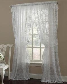 Blend your house modern look with traditional Priscilla Curtains Contemporary Priscilla Lace Curtains. I bought these for my living room and dinning priscilla curtains criss cross Lace Curtain Panels, Ruffle Curtains, Boho Curtains, Rustic Curtains, Curtains Living, Rod Pocket Curtains, Colorful Curtains, Hanging Curtains, Sewing Curtains
