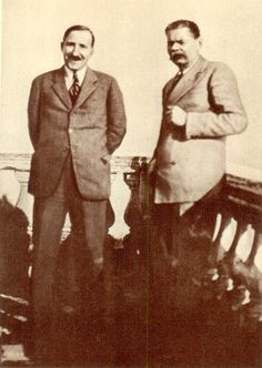 Stefan Zweig and Maxim Gorky, Sorrento, 1930.