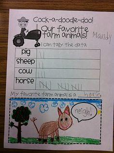 Favorite farm animals with tallies