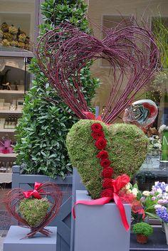 Valentine window display Florist Shop Front | Flickr - Photo Sharing!