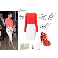 """Get the Look: Celebrity Street Style; Jennifer Lopez"" by buzzbee-585 on Polyvore"