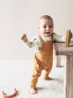 Dungarees with a straight-cut neckline and straps with button fastening. Elastic waistband and snap-button fastening at the bottom. Patch pockets in the front. Dungarees, Overalls, Freddie Reign, Baby Outfits Newborn, Pocket Detail, Baby Kids, Look, Organic Cotton, Zara