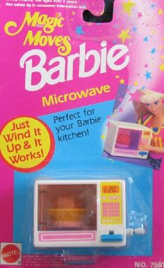 Fashion Doll: Barbie Magic Moves MICROWAVE Wind It  It Works Perfect For Barbie Kitchen 1992 Arcotoys Mattel ** Read more at the image link.