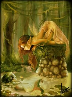 Fantasy Forest Fairies and Elves - Bing images Fairy Dust, Fairy Land, Fairy Tales, Elfen Fantasy, Fantasy Art, Fantasy Fairies, Fantasy Mermaids, Magical Creatures, Fantasy Creatures