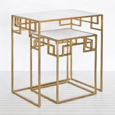 Gold Leaf Nesting Tables