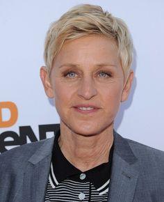 Ellen DeGeneres Layered Razor Cut - Short Hairstyles Lookbook - StyleBistro
