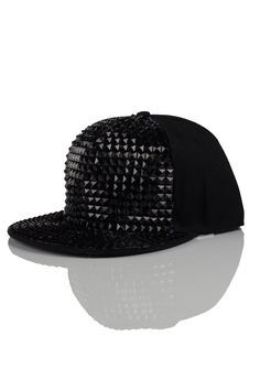 Ace Black Stud Snapback in Black - Accessories