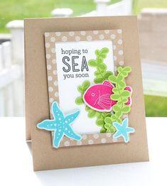 Darling Dots, Sea Life, Rectangle Frames Die-namics, Sea Life Die-namics - Lisa Johnson #mftstamps