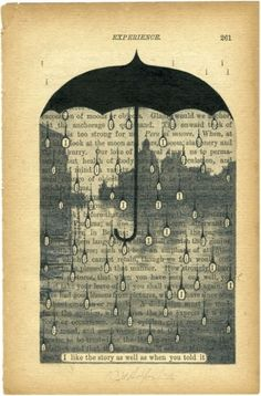 """altered book art """"i like the story as well as when you told it"""""""