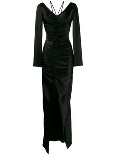 David Koma Ruched Fitted Maxi Dress In Black David Koma, Women Wear, Formal Dresses, Dress Black, Fitness, Sleeves, Fashion Design, Clothes, Shopping