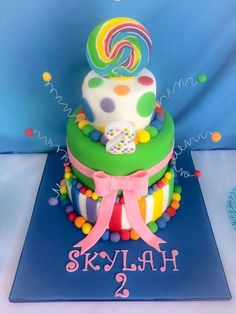 Natasha F's Birthday / Rainbow - Photo Gallery at Catch My Party Rainbow Loom Party, Rainbow Parties, Rainbow Birthday Party, Rainbow Food, Balloon Birthday, Birthday Cakes, Birthday Ideas, Birthday Parties, Candy Cakes