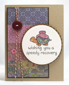 Lawn Fawn card using On the Mend