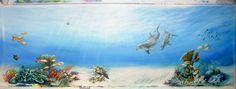Part of the 200ft undersea mural. www.megsmurals.com